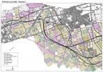 Cartographie sur fond topographique au 1/9000ème, des différents types de cultures dans une zone d'étude donnée